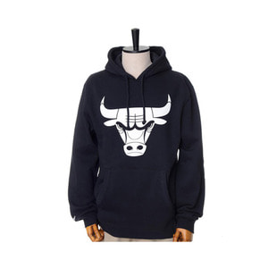 미첼엔네스 NBA 시카고불스 검흰 후드, MitchellandNess CHICAGO BULLS BLACK/WHITE LOGO HOODY - BLACK - 풋셀스토어
