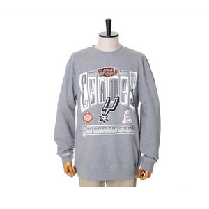 미첼엔네스 NBA 샌안토니오스퍼스 챔프 맨투맨, MitchellandNess SAN ANTONIO SPURS WINNER TAKES ALL CREW SWEATSHIRTS - GREY - 풋셀스토어