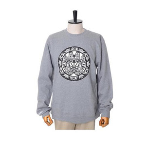 미첼엔네스 NBA 밴쿠버 그리즐리스 맨투맨, MitchellandNess VANCOUVER GRIZZLIES BLACK/WHITE LOGO CREW SWEATSHIRTS - GREY - 풋셀스토어