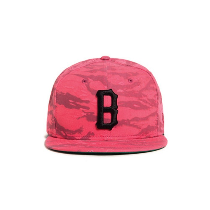 [블랙스케일]BLACK SCALE COVERT B LOGO NEW ERA RED - 풋셀스토어