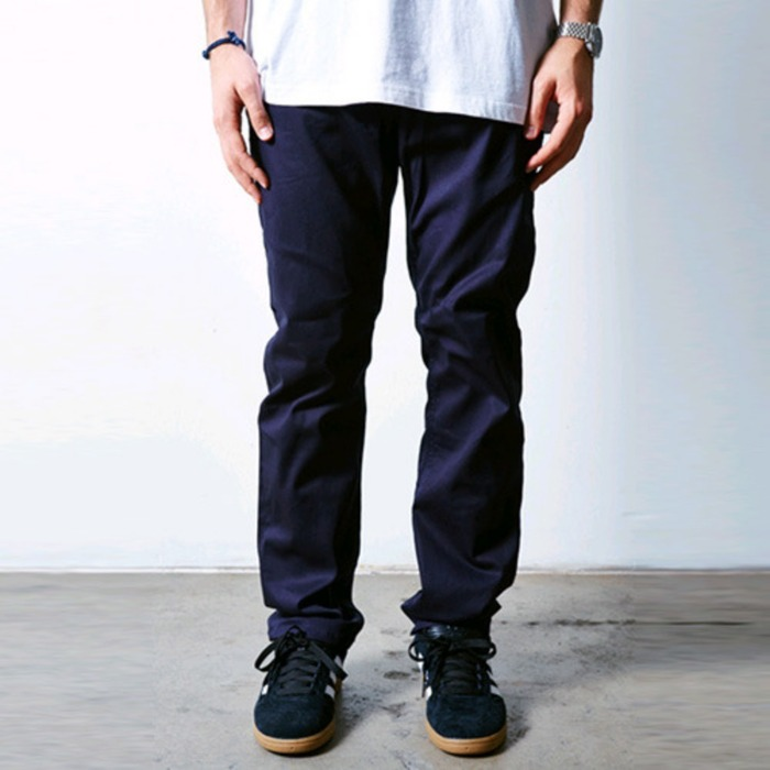 [러스틱다임]RUSTIC DIME SLIM FIT 5-POCKET CHINO (NAVY) - 풋셀스토어