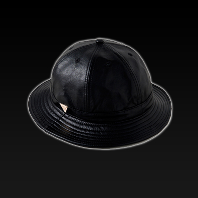 ������ �׷��� ���� ���� ��Ŷ��, HATer FULL GRAIN BLACK LEATHER BUCKET HAT